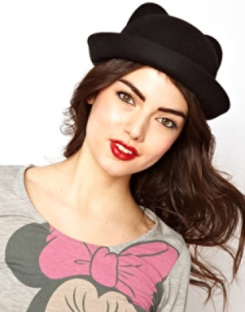 cat ear bowler hat