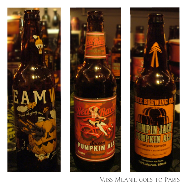 Steamworks - Pumpkin Ale, Central City  Brewing - Red Racer Pumpkin Ale, Tree Brewing  - Jumpin Jack Pumpkin Ale