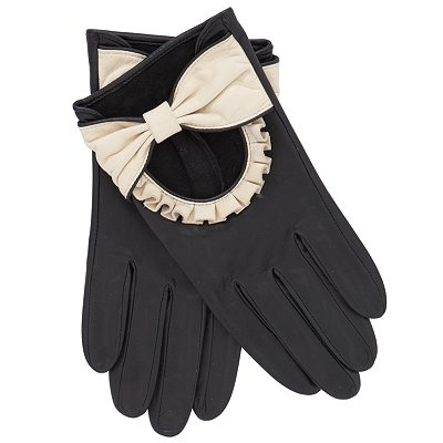 I'm a total sucker for ruffles, bows as well as  black & cream.  These John Lewis gloves are GORGEOUS!