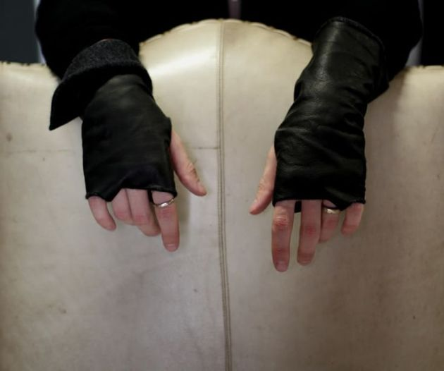 leather fingerless