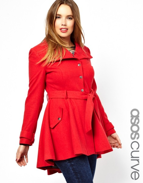 ASOS curve fit and flare in red