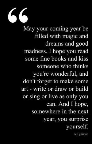 new year by Neil Gaiman