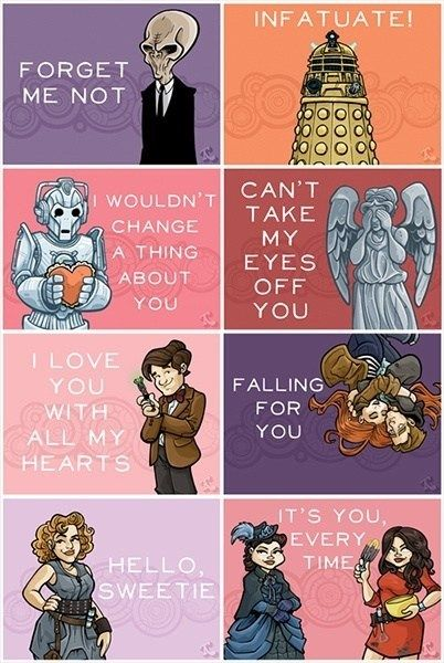 Doctor Who valentines day cards // Friday I'm in Love // margotmeanie.com