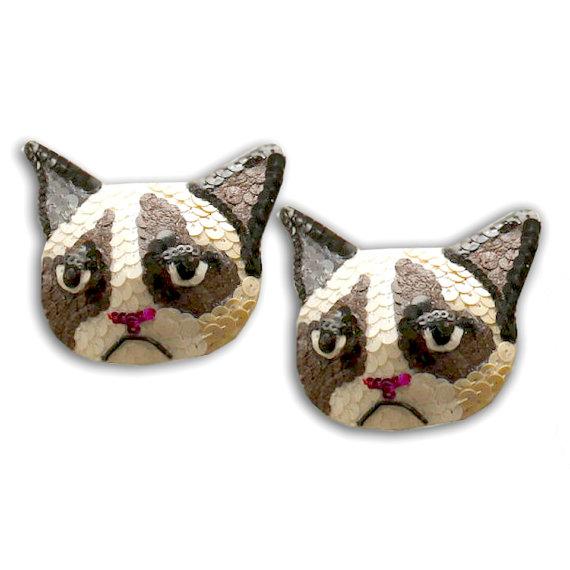 Grumpy Cat Burlesque Pasties Nipple Tassels by burlesque101