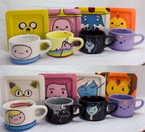 Adventure Time mug and saucer set by The Fandon Teapot