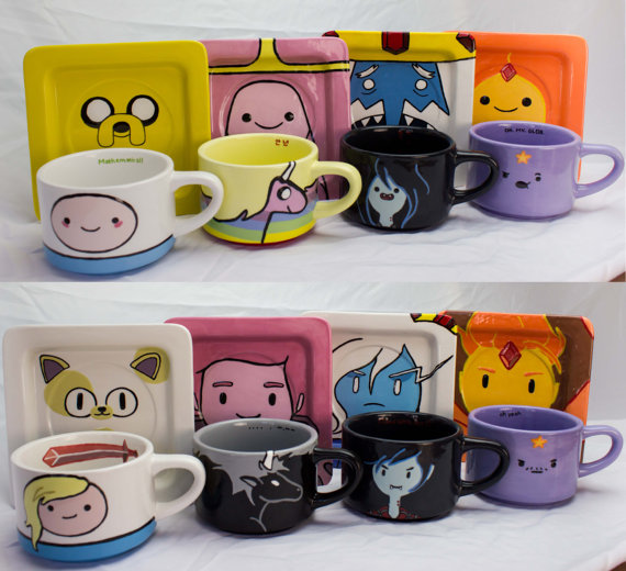 Adventure Time mug and saucer set by The Fandon Teapot