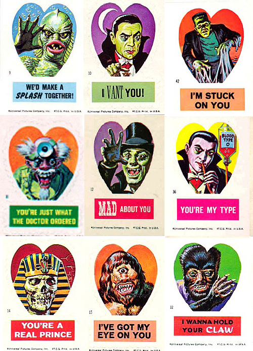 vintage monster valentines day cards // Friday I'm in Love // margotmeanie.com