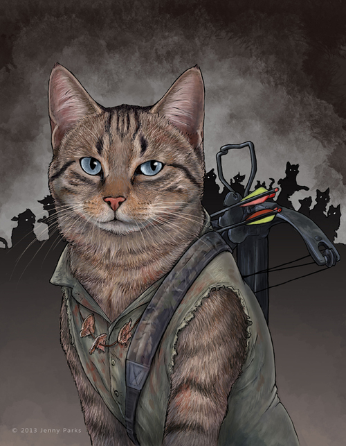 Daryl Dixon // Jenny Parks // Caturday #06 // margotmeanie.com