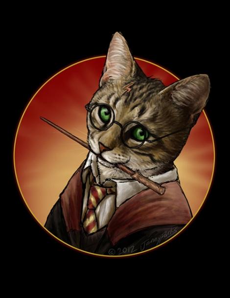 Hairy Pawter // Jenny Parks // Caturday #06 // margotmeanie.com