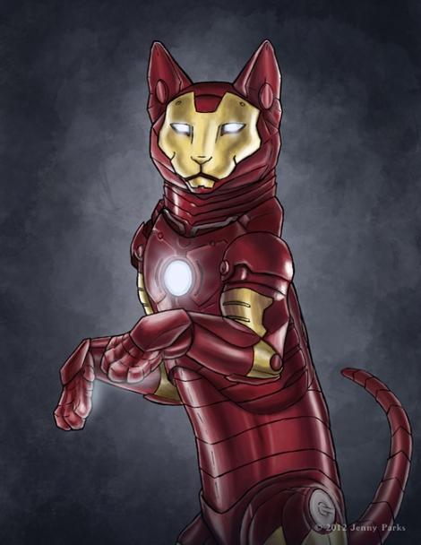 Ironcat // Jenny Parks // Caturday #06 // margotmeanie.com