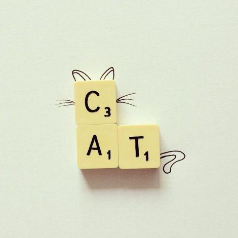 scrabble cat