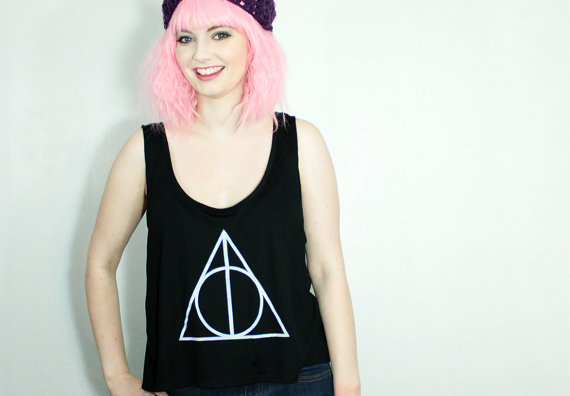 Deathly Hallows Crop Tank // Android Sheep // margotmeanie.com