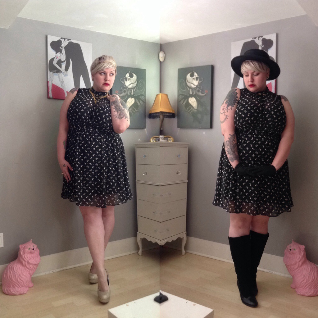 Modcloth Windy City dress// styled two ways // margot meanie