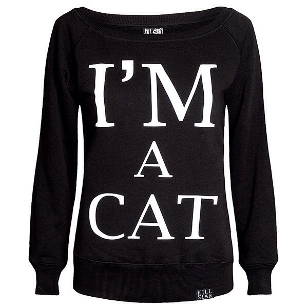 // kill star co. // I'm a cat slouchy sweatshirt //