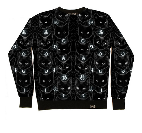 Black Cats Sweatshirt  MULTI    KILLSTAR