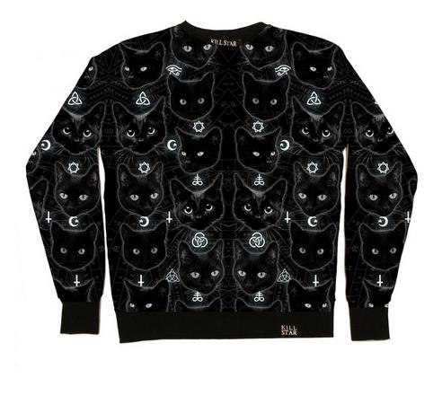 Black Cats Sweatshirt  MULTI    KILLSTAR