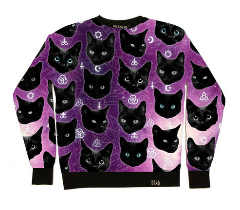 Cozmic Cats Sweatshirt  MULTI    KILLSTAR