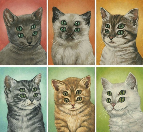 four eyed cat portraits, casey weldon