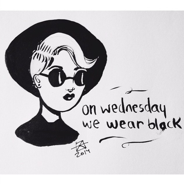 miss meanie // on wednesday we wear black // by Alex of Not Afraid to Wear Heels
