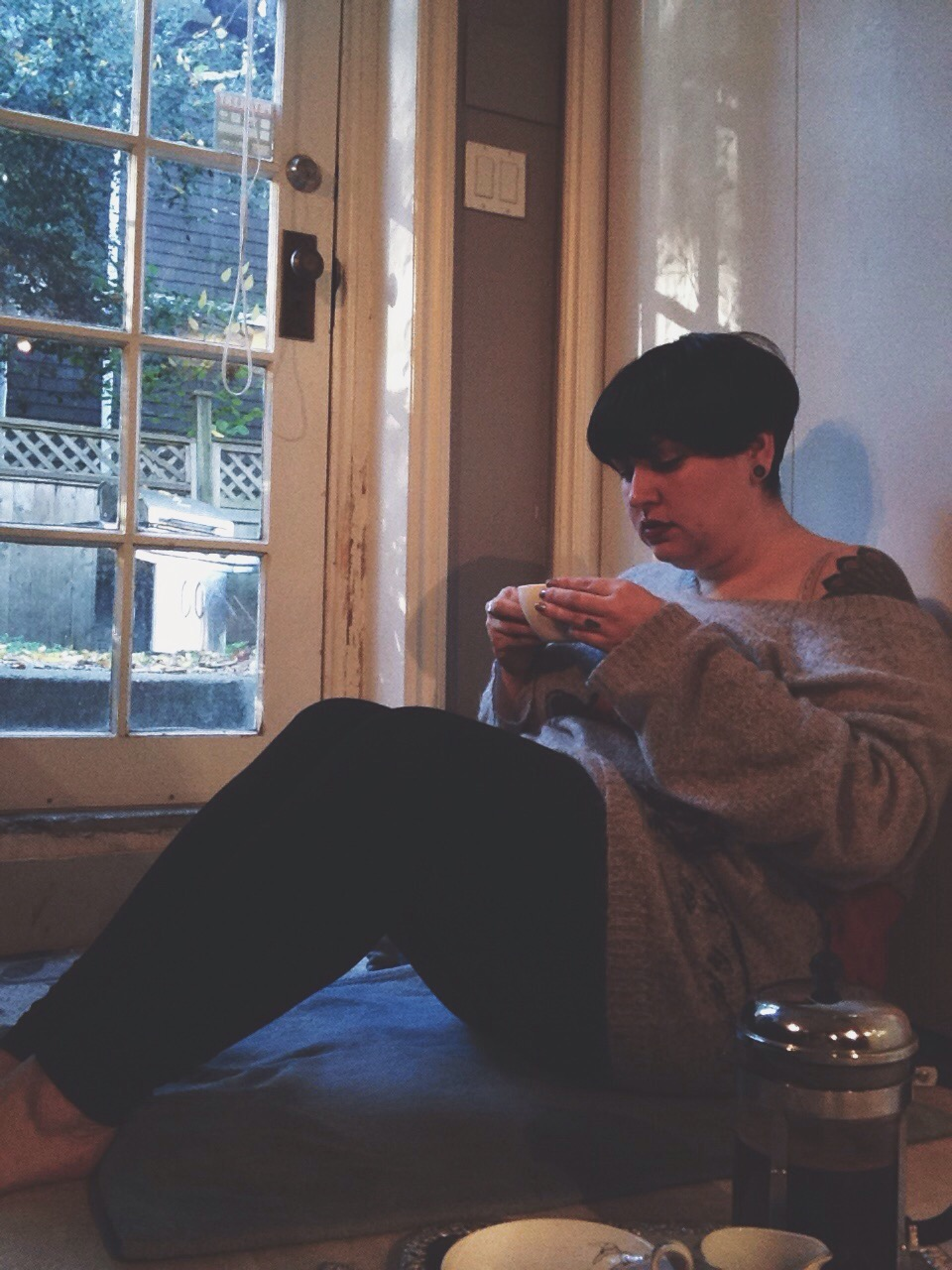 "alternative plus size blogger, Margot Meanie // #untamedstyle theme ""cozy"""