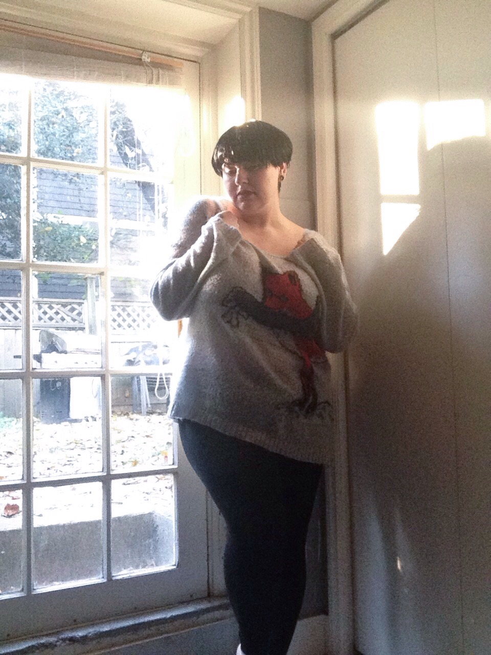 "alternative plus size blogger, Margot Meanie // #untamedstyle theme ""cozy"""