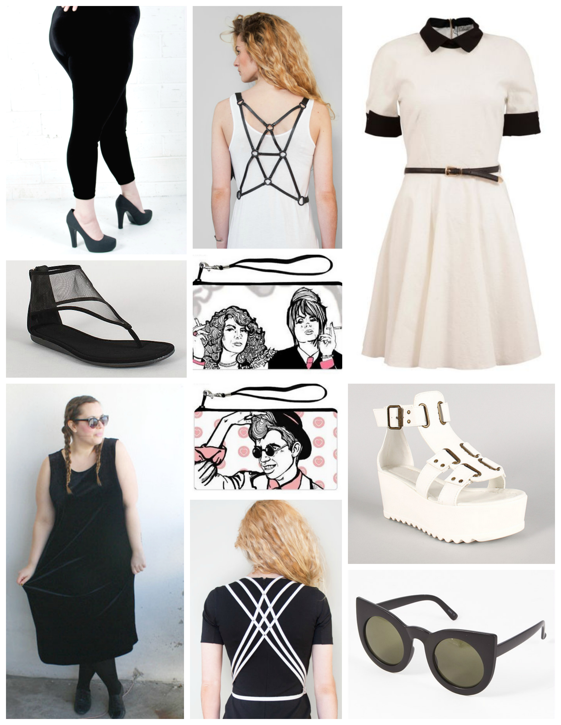 { covet } black & white alternative plus size shopping guide