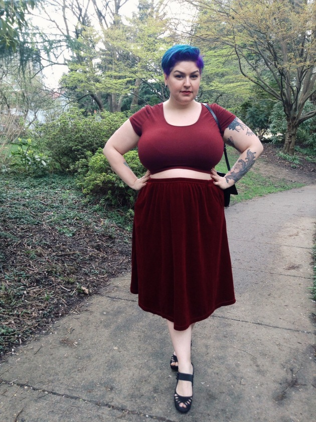 monochrome | plus size blogger margot meanie