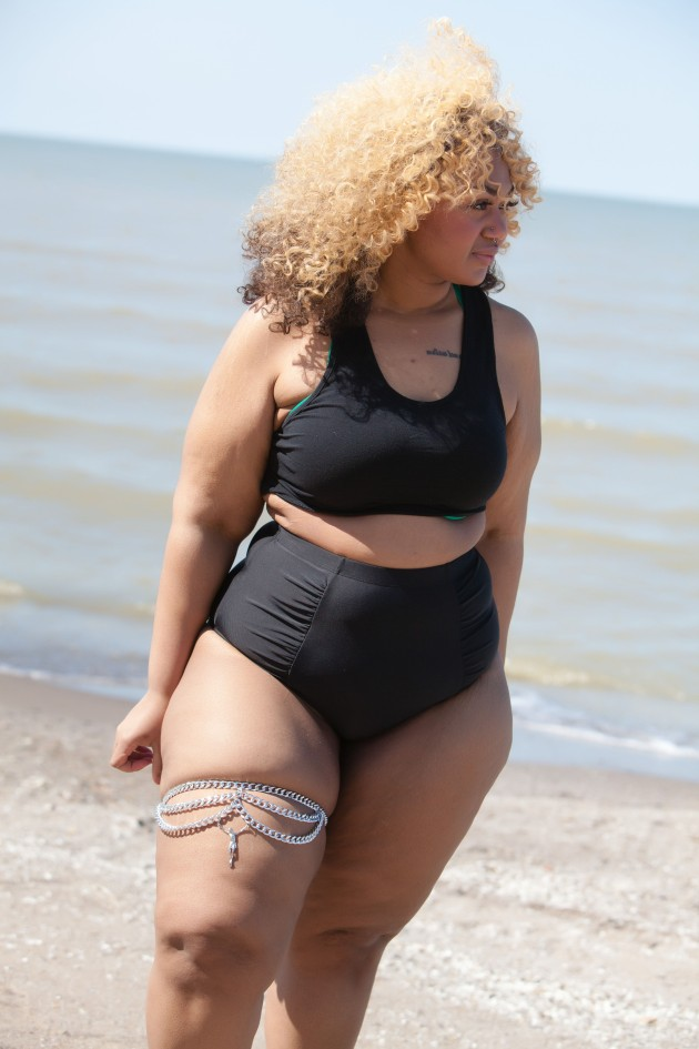 "The ""I Met God She's Black"" Silver Thigh Chain 
